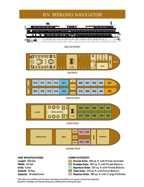 Deckplan of Mekong Navigator