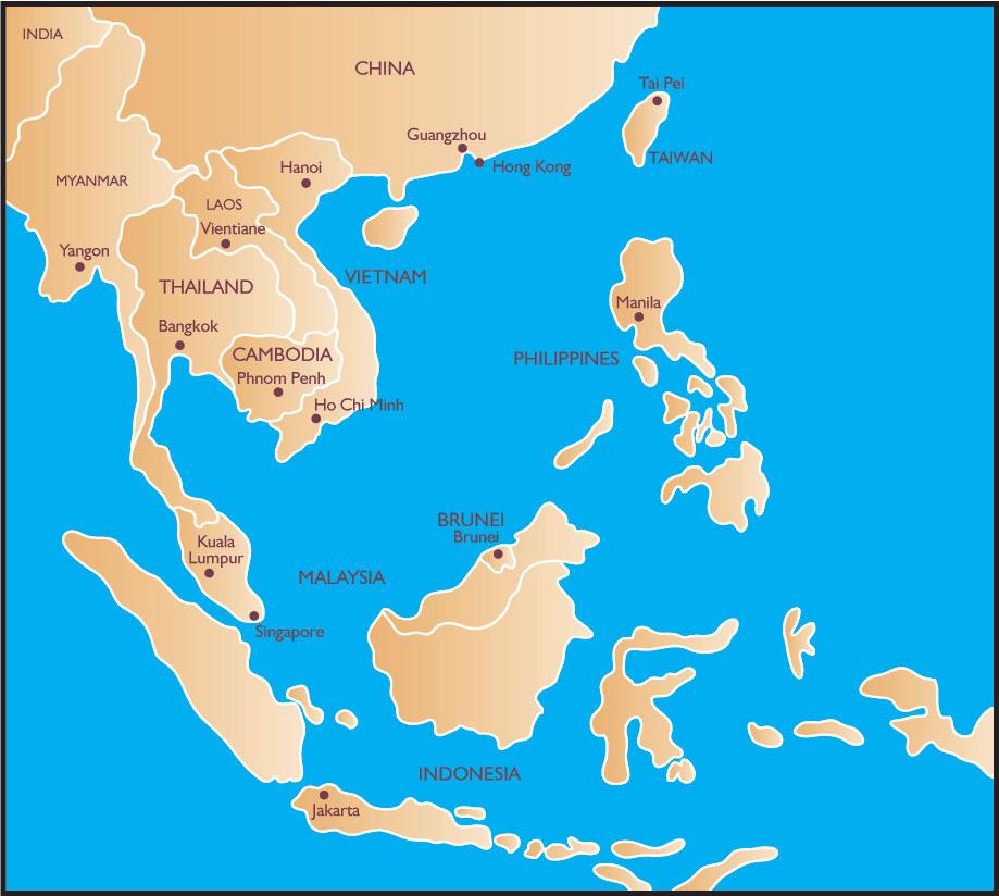 Southest Asia Map